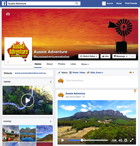 aussie adventure facebook page 480x500